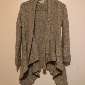 Modcloth Oatmeal Open Front Cardigan